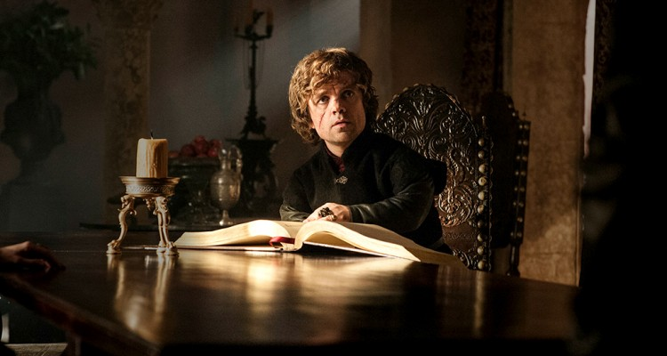 Tyrion reads a book
