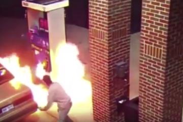 gas station spider fire