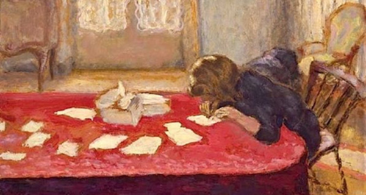young writer painting