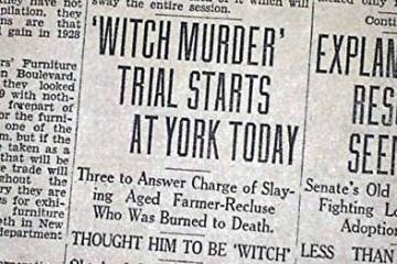 with trial headline newspaper