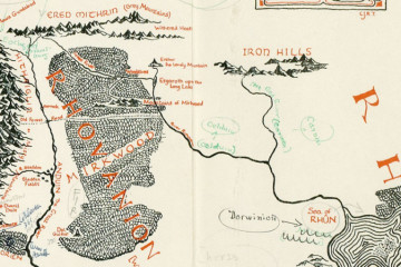 Tolkien Annotated Map of Middle Earth