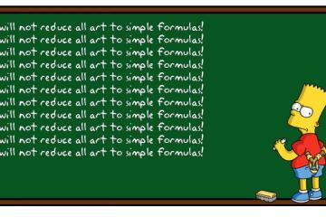 Bart Simpson text